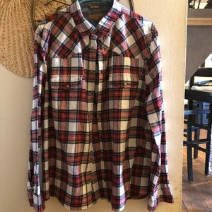 Snap Button Flannel Shirt